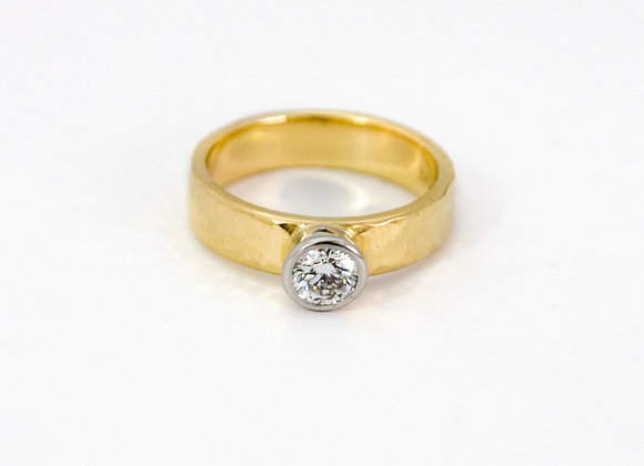 Yellow Gold, Platinum and Diamond ring