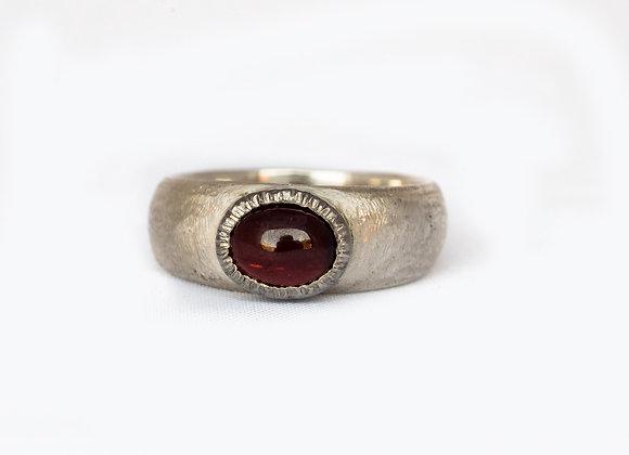 Cab Garnet Ring