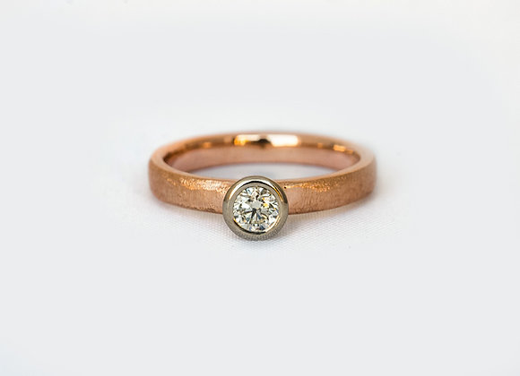 Ben Flynn handmade engagement ring rose gold platinum and Diamond