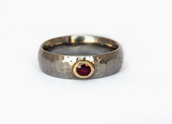 Palladium and Ruby Ring
