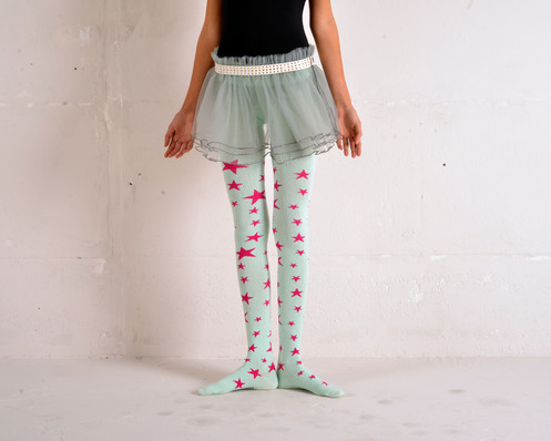 f74bd92c3e380 Our chic mint/pink Star tights are made of high quality thick cotton yarn.  It is extra stretchy to fit every leg, and feels very soft on skin.
