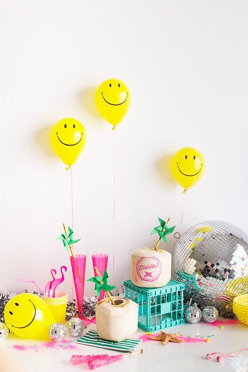 """12""""笑臉氣球  Smiley Face Balloon"""