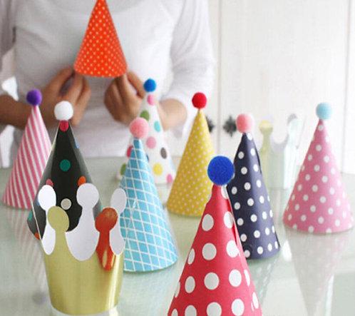11件裝 韓版生日派對帽 Korean Party Hats