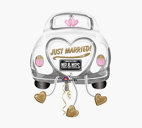 JUST MARRIED 婚車氣球 Wedding Car Balloon