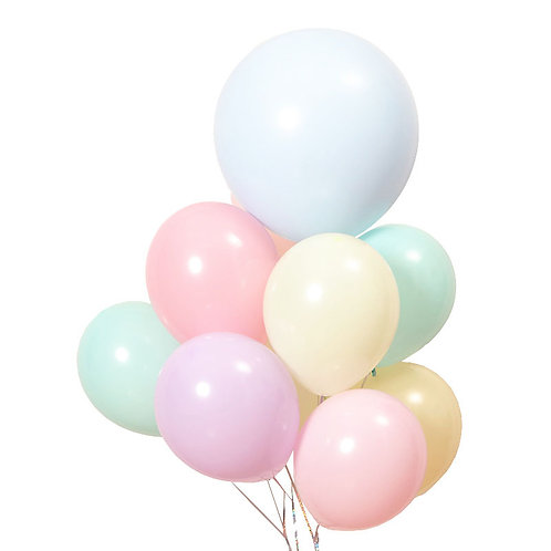 "10""馬卡龍色圓形乳膠氣球  Macaron Candy Colored Latex Balloons"