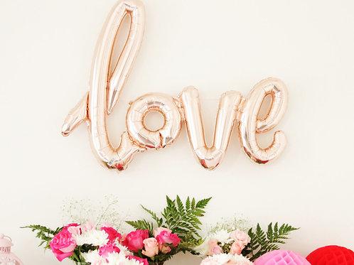 "18"" LOVE 字型氣球 Rose Gold Foil Balloon"