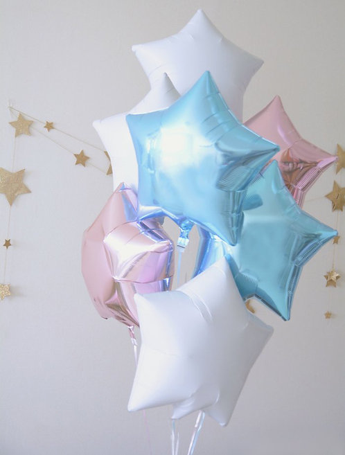 Star Star Bouquet-BABY BLUE X ROSE GOLD X WHITE