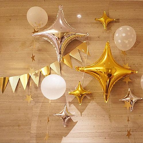 """22""""四角星鋁氣球 Diamond Star Balloon"""