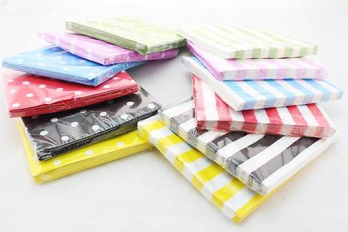12張裝 彩色餐巾紙 Handkerchief