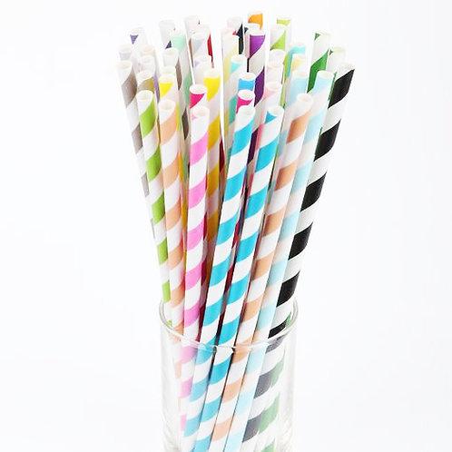 25支裝 派對紙吸管 Paper Straws