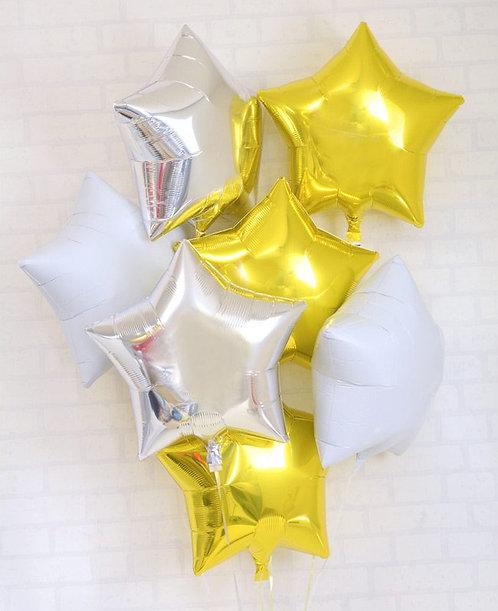 Star Star Bouquet-GOLD X SILVER X WHITE