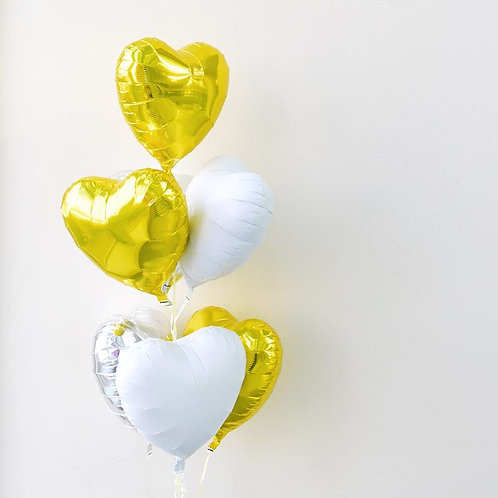 Heart to Heart Bouquet-GOLD X SILVER X WHITE