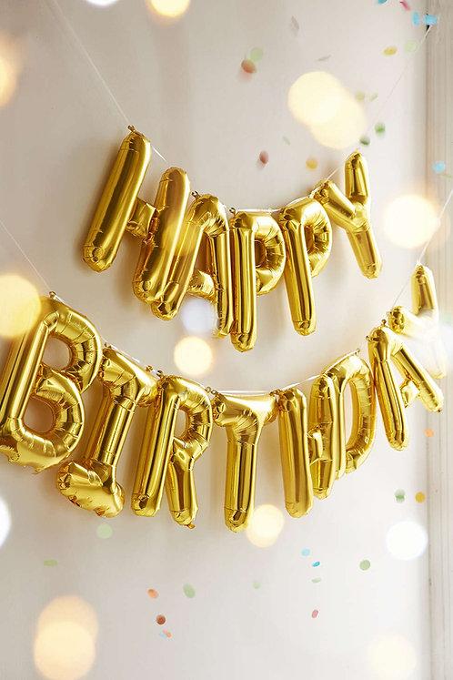 Happy Birthday 字母氣球套餐 Package