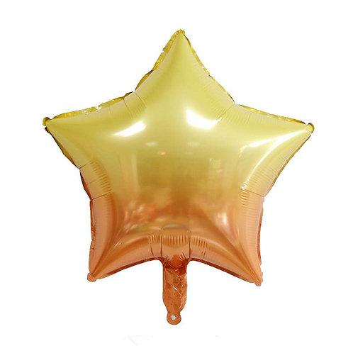 """18"""" 漸變五角星 Gradient 5-pointed Star Balloon"""