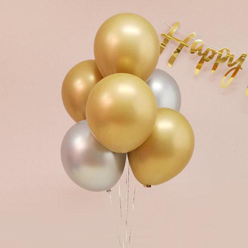 """12"""" 圓形金屬氣球 Metallic Balloon"""