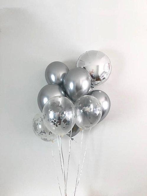 Birthday Bouquet 9- Metallic Silver