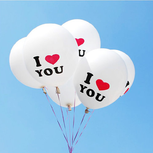 "12"" I LOVE YOU 圖案氣球 Printed Balloon"
