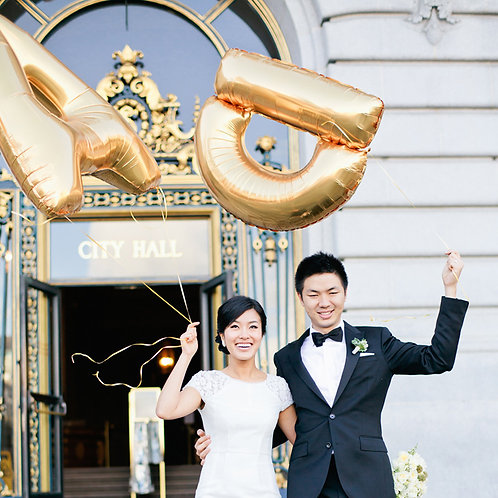 """40"""" 大型金銀字母氣球 (自由組合) Silver Gold Letter Bal"""