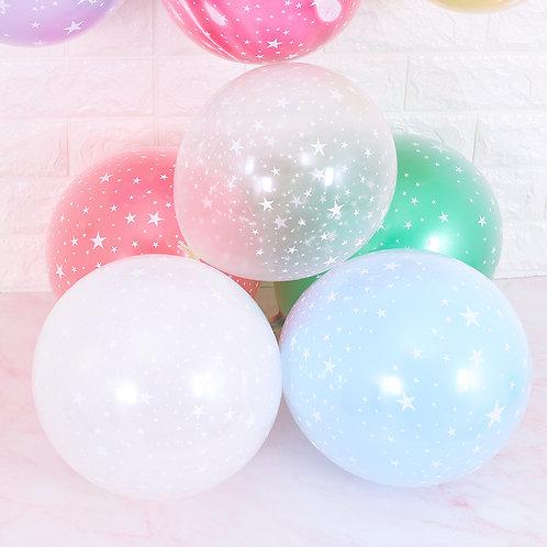 """12"""" 滿天星透明乳膠氣球 Star Pattern Balloon"""