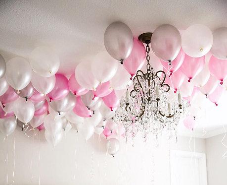 粉銀系氣球裝飾套餐 Glamorous Balloon Package