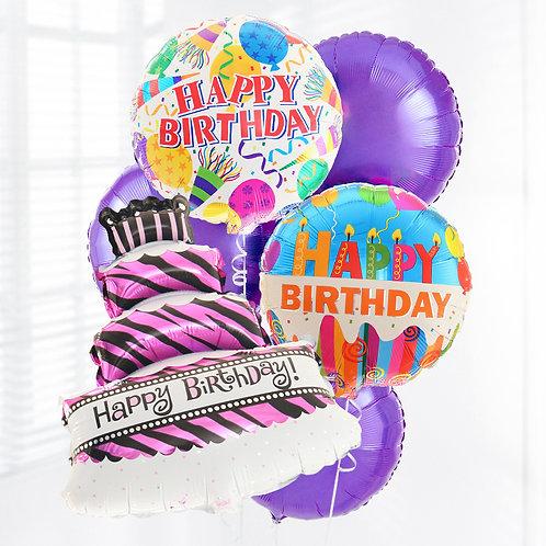 Happy Birthday 生日蛋糕鋁氫氣球套裝 Cake Balloon Package
