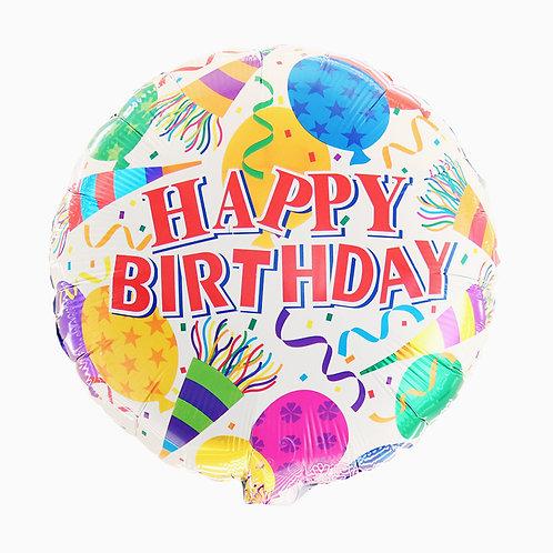 白色圓形生日氣球 White Round Birthday Balloon