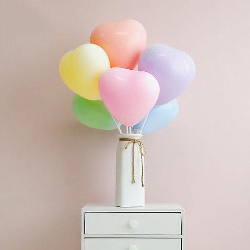 """10""""馬卡龍色心形氣球 Macaron Color Heart Balloon"""