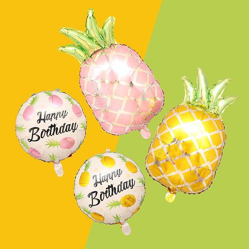 菠蘿鋁膜生日氣球 Pineapple Birthday Balloon