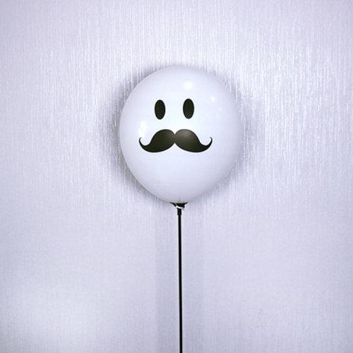 """12""""白色胡子氣球 Cartoon Mustache Balloon"""