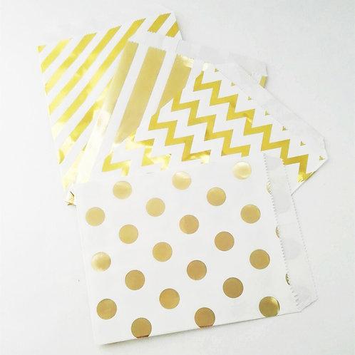 25件裝 金色派對食品包裝袋 Treat Bag