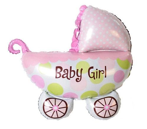 Baby Girl Car 鋁氫氣球 Balloon