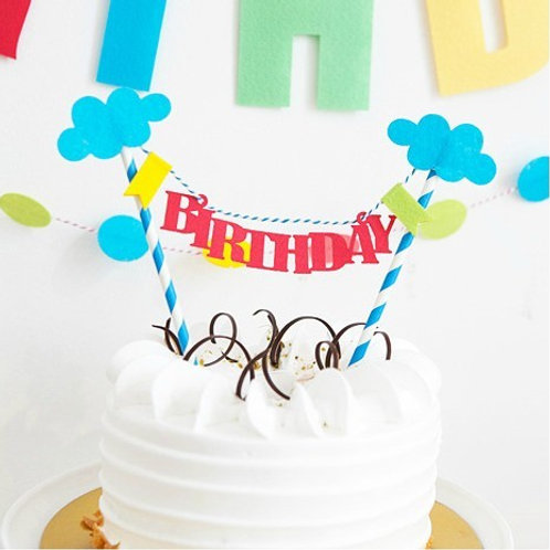 BIRTHDAY 蛋糕插牌裝飾 Cake Banners
