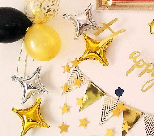 """10""""四角星鋁氣球 Diamond Star"""