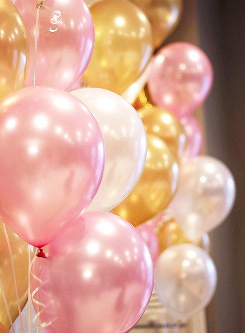金粉系氣球裝飾套餐 Glossy Balloon Package