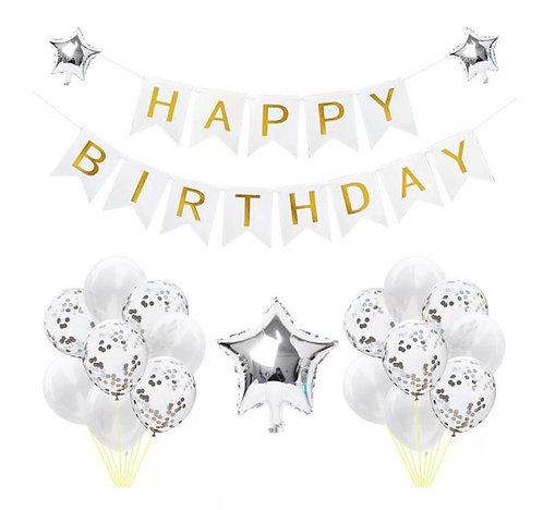 Happy Birthday Party Set- WHITE