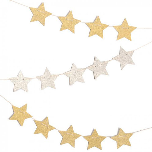閃粉星星掛飾 Glitter Star Garland