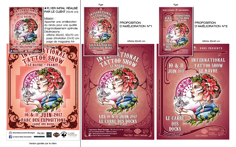 Affiches Le Havre Tattoo Convention 2017