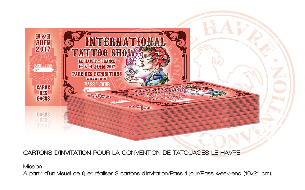 Cartons d'invitation Le Havre Tattoo Convention 2017