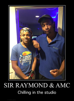 Sir Raymond TO RIGHT and AMC TO LEFT