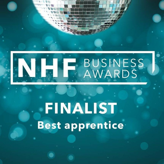 NHF Business Award we are pleased to announce our Jake has been nominated for BestApprentice 2018