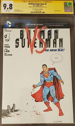 Ryan Ottley Sketch CGC 9.8 Batman/Superman #1