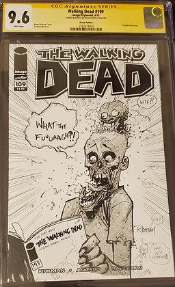 Walking Dead #109 Ryan Ottley Sketch CGC 9.6