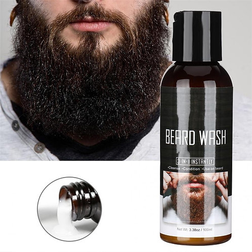 Mustache Beard Cleaning Lotion Hair Growth