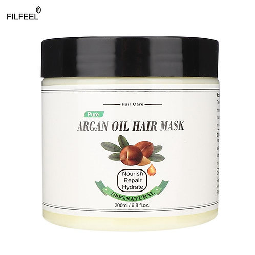 Natural Argan Oil Hair Mask Moisturizing Hair Care Cream