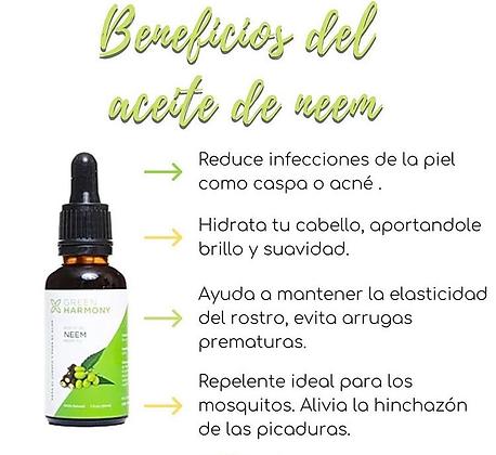 Aceite de Neem 30ml Green Harmony
