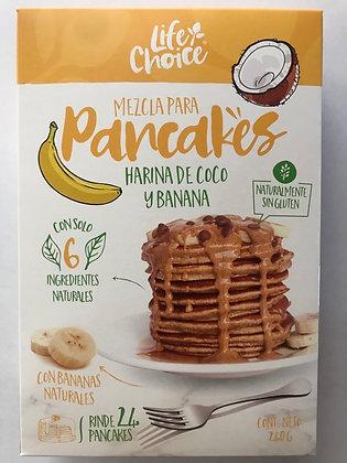 Mezcla Pancakes en Harina de Coco con Banano 240gr. Life Choice