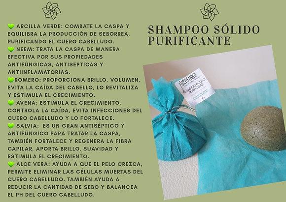 Shampoo Purificante Barra 90gr Denik