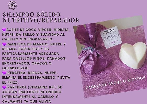 Shampoo Nutritivo Reparador Barra 90gr Denika