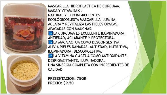 Mascarilla Hidroplastica de Curcuma Denika