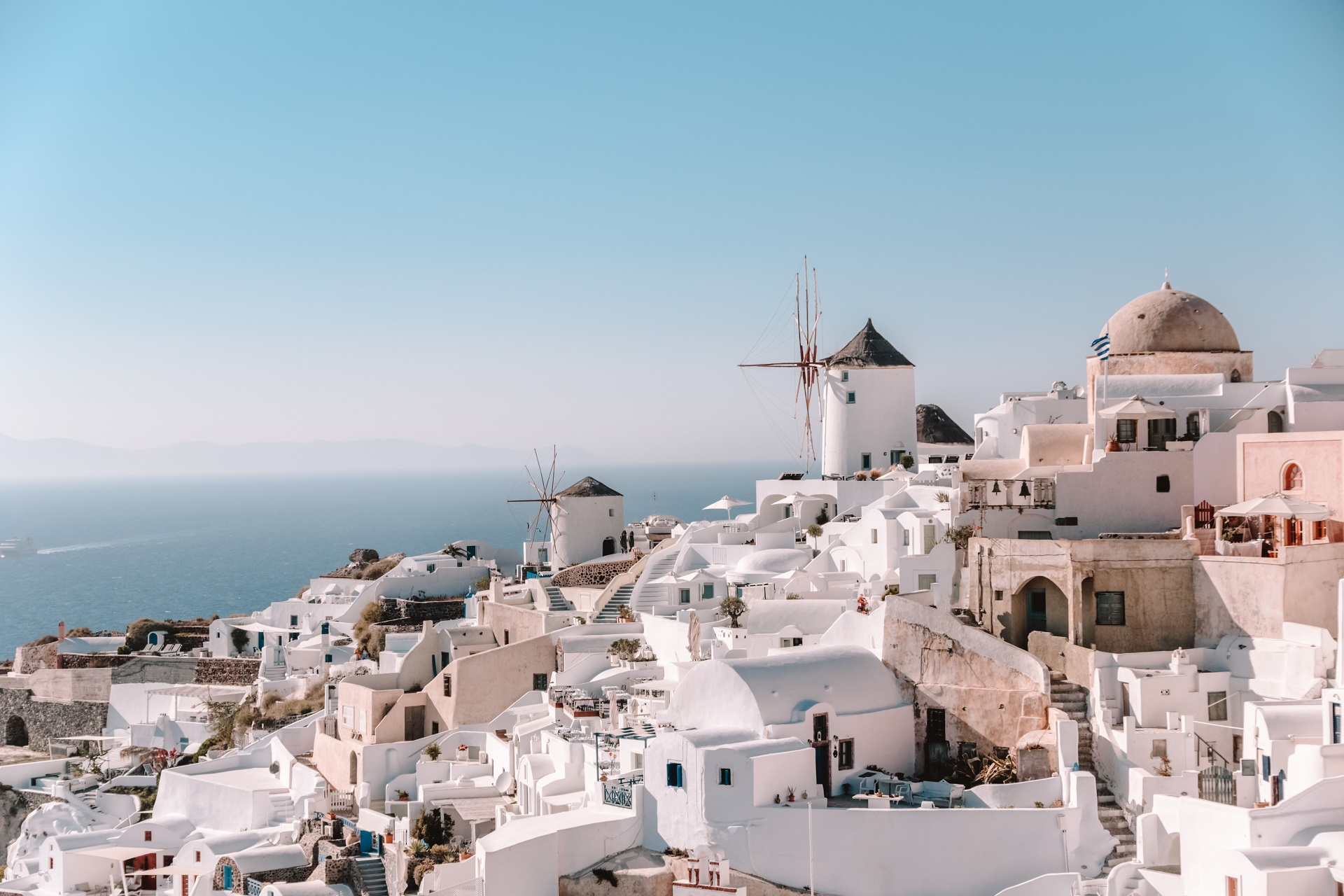The famous village of Oia